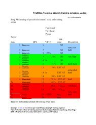 Triathlon Training: Weekly training schedule varies - Hammer Nutrition