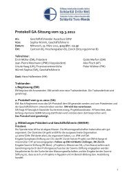 Protokoll GA 19.3.2012