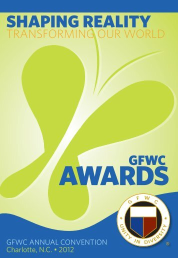 GFWC Awards Book - General Federation of Women's Clubs