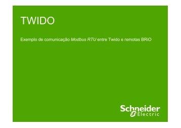 Exemplo de comunicação Modbus RTU entre ... - Schneider Electric