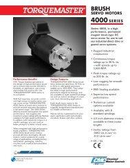 brush servo motors - Consysta Automation / Contraves Drives