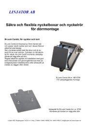 Broschyr nyckelboxar/rör för dörrmontage - linjator.se