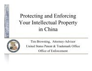 Protecting and Enforcing Your Intellectual Property in China