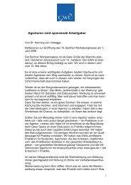 Agenturen sind spannende Arbeitgeber - Henning von Vieregge