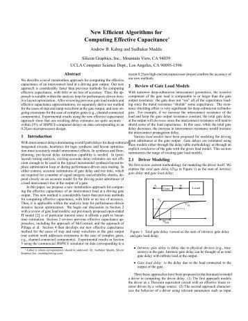 New Efficient Algorithms for Computing Effective Capacitance