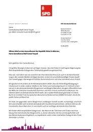 Offener Brief an den türkischen Generalkonsul ... - Svenja Schulze