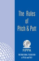 The Rules of Pitch & Putt - FIPPA