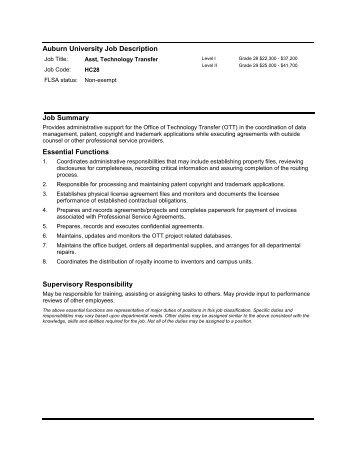 Job Description-Family - Auburn University