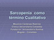 Sarcopenia como término Cualitativo. Mauricio Cárdenas Ramírez.
