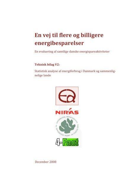 V2 – Statistisk analyse af energiforbrug i Danmark ... - Energistyrelsen