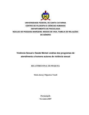 Violência Sexual e Saúde Mental: análise dos programas de ...