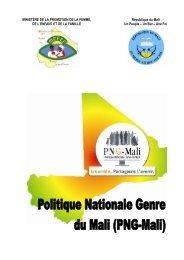 Politique Nationale Genre du Mali - RECOFEM