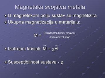 Magnetska svojstva materijala