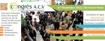 Plaquette congres ACV 2012 - avniR