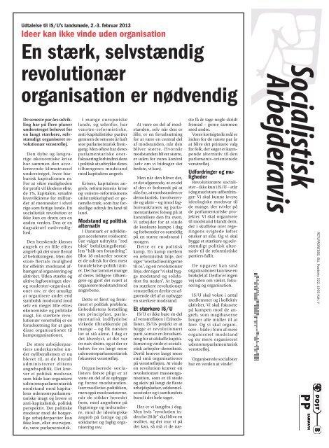 Overenskomst, dagpenge, SU… - Internationale Socialisters Ungdom