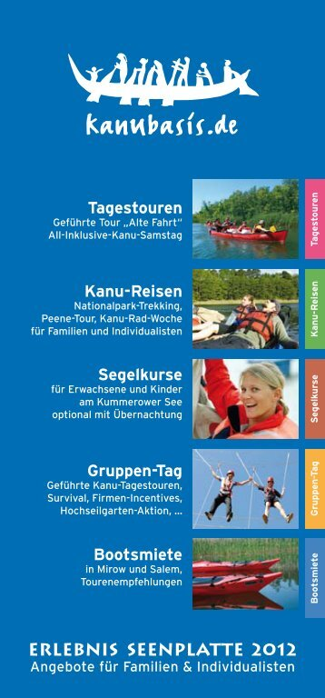 kanubasis.de - Erlebnis Seenplatte 2012 - Angebote für Familien ...