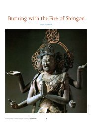 Burning with the Fire of Shingon - The Institute of Buddhist Studies