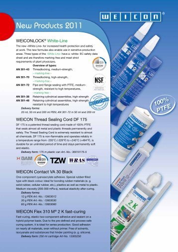 New Products 2011 - Weicon.com