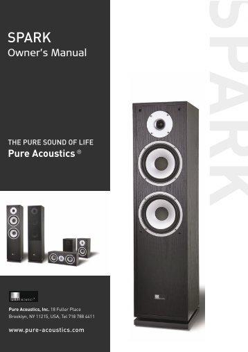 user's manual - Pure Acoustics, Inc.