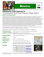 Mexico - Center for Latin American and Caribbean Studies