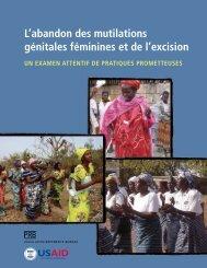 L'abandon des mutilations génitales féminines et de l'excision