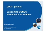 GIANT project: Supporting EGNOS introduction in aviation.