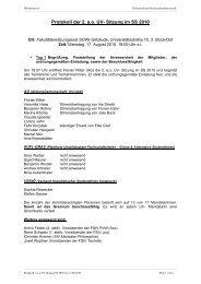 Protokoll der 2. a.o. UV- Sitzung im SS 2010 - Österreichische ...