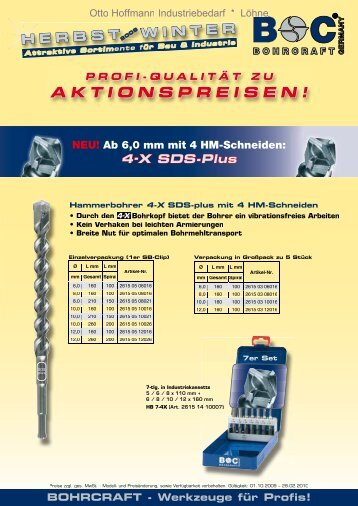 BOHRCRAFT - Werkzeuge für Profis! - otto-hoffmann.com