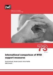 73 - International comparison of RTDI support measures - IWT