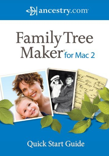 Download the Quick Start Guide. - Family Tree Maker