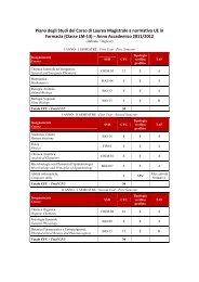 Piano degli Studi A.A. 2011-2012 - Farmacia