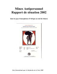 Mines Antipersonnel Rapport de situation 2002 - Landmine and ...
