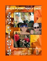Fall Program Guide - YMCA of Central and Northern Westchester