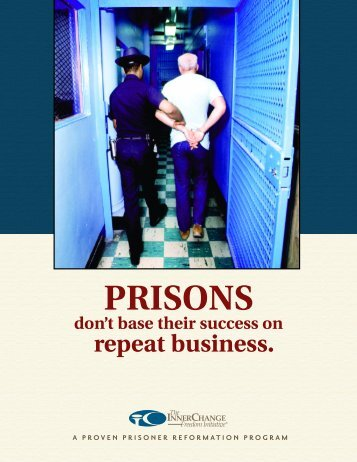 PRISONS don't base their success on repeat ... - Prison Fellowship