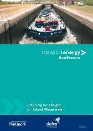 Freight Transport Energy Best Practice - Canal & River Trust