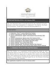 Opportunities Bulletins # 116 January - The Royal Film Commission ...