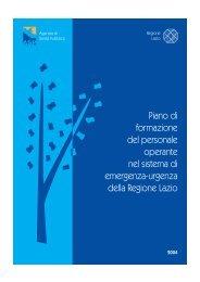 Piano di Formazione - Agenzia di Sanità Pubblica della Regione Lazio