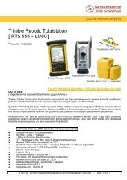 Trimble Robotic Totalstation [ RTS 555 + LM80 ] - DS-Messwerkzeuge