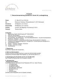 Protokoll der Generalversammlung 2013 - Zündschnur
