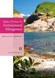 Environmental Management - Faculty of Science, HKU - The ...
