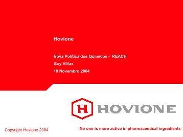 Hovione, 19-11-2004