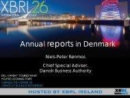 DATA1. Annual Reports in Denmark, Niels-Peter Ronmos, Danish ...