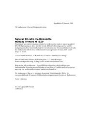 Kallelse - Svensk Biblioteksförening