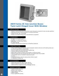 Snap Latch and Hinged Cover Allied Moulded AM1206L AM Series Fiberglass JIC Size Junction Box