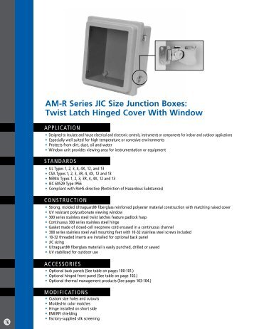 Twist Latch Hinged Cover with Window - Solutions Direct