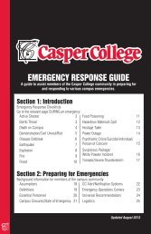 EMERGENCY RESPONSE GUIDE SECTION 1 - Casper College