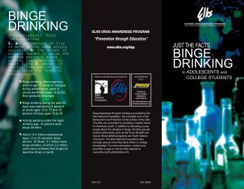 Just the Facts Binge Drinking