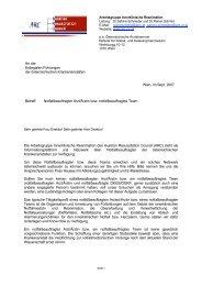 Brief an die Kollegialen Führungen der Krankenanstalten - Austrian ...