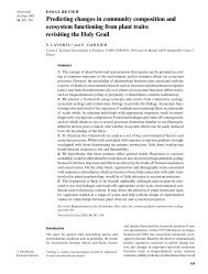 Predicting changes in community composition and ecosystem ...