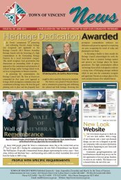 Heritage DedicationAwarded - City of Vincent
